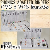 Phonics Adapted Binders BUNDLE - CVC and VCE