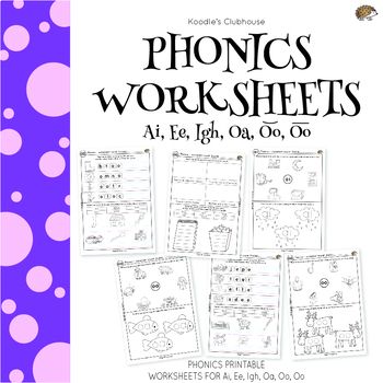 Phase 3 Phonics Worksheets Teachers Pay Teachers