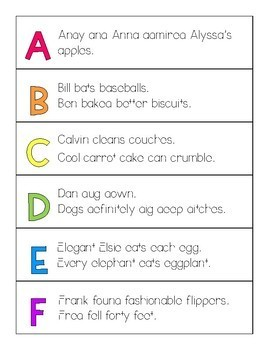 Phonics Alliteration Strips