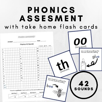 Phonics/Alphabet Assessment and Flash Cards (single sounds and digraphs)