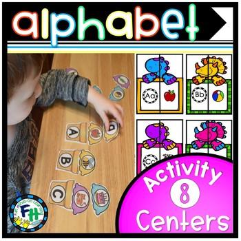 Alphabet Activity Centers {8 Centers}