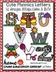 Alphabet Letter Clip Art Super Cute Characters