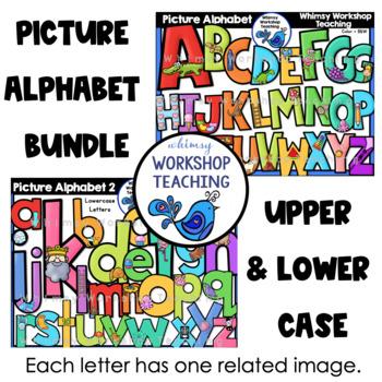 Phonics Alphabet Clip Art (52 Graphics) Whimsy Workshop Teaching
