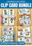 Phonics & Alphabet Clip Cards BUNDLE