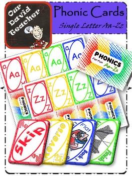 Phonic Cards Alphabet Games { OurDavidTeacher }