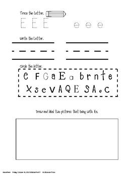 Phonics- Alphabet Pages