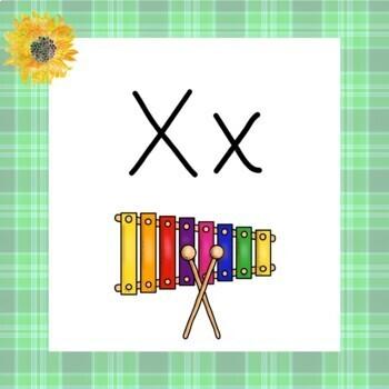 Phonics Literacy English Language Arts Alphabet Sunflower and Plaid Posters