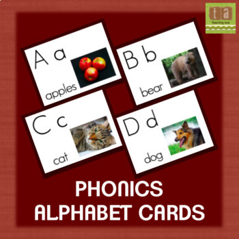 Alphabet Chart Picture Cards With Real Images - No Clip ...