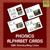 Alphabet Picture Cards With Real Images and Handwriting Lines - No Clip Art!