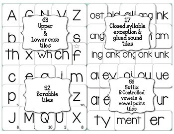Phonics Alphabet and More Letter Tiles Clip Art Personal and Commercial License