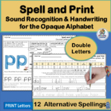 Phonics Alternative Spelling and Handwriting Practice for Double Letters