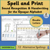 Alternative Spelling and Handwriting Practice Double Letters | SASSOON Font