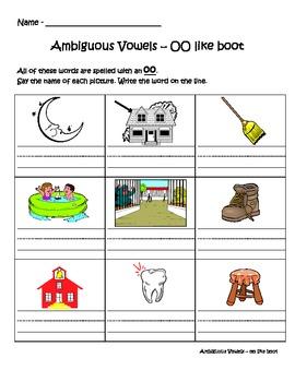 Phonics - Ambiguous Spelling Pattern book