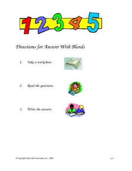 Phonics:  Answers with Blends (English and Spanish)