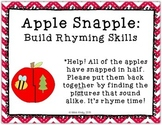 Literacy Center Puzzle: Back to School Rhyming Words