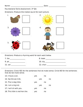 Phonics Assessment