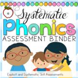 Phonics Assessment Binder K-2