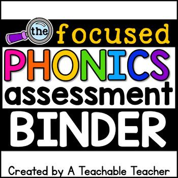 Phonics Assessment Binder - NEW & ON SALE