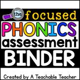 Phonics Assessment Binder