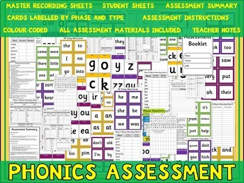 Phonics Assessment Phases 2-5 {UK Teaching Resources}