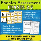 Phonics Assessment Phases 2-5 UK Teaching Resources