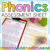 Phonics Assessment Sheet