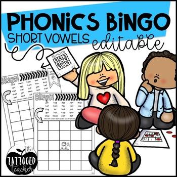 Phonics BINGO short vowels