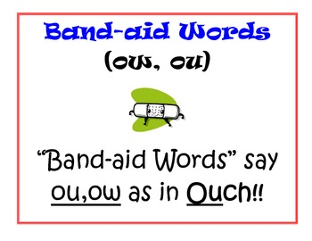 Phonics: Bandaid Words- ou,ow