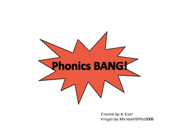 Phonics Bang! Game - English AND Spanish Cards included!