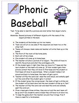 Phonics Baseball