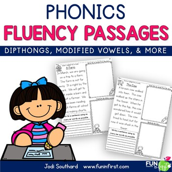 Phonics Based Fluency Passages {Diphthongs, Modified Vowel