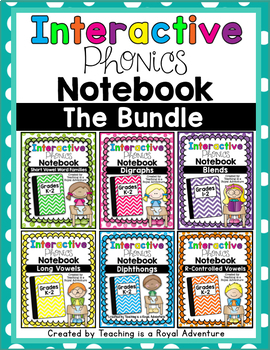 Phonics Interactive Notebook: The Bundle (All Year)