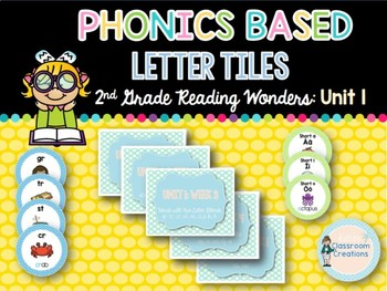 Phonics Based Letter Tiles: 2nd Grade Reading Wonders UNIT 1