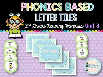 Phonics Based Letter Tiles: 2nd Grade Reading Wonders UNIT 3