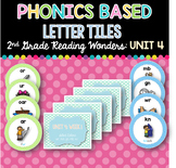 Phonics Based Letter Tiles: 2nd Grade Reading Wonders UNIT 4