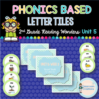 Phonics Based Letter Tiles: 2nd Grade Reading Wonders UNIT 5