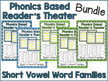 Phonics Based Reader's Theater {Short Vowel Bundle}