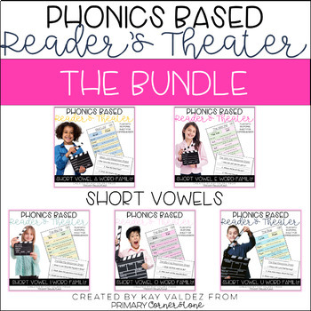 Reader's Theater-Phonics Centers-Short Vowels-CVCs-Word Families Bundle