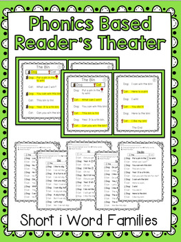Phonics Based Reader's Theater {Short i Word Families}
