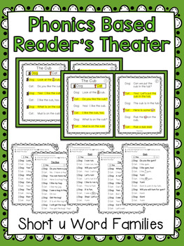 Phonics Based Reader's Theater {Short u Word Families}