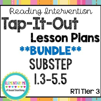 Phonics Based Reading Intervention Lesson Plans Substeps (Books) 1-5