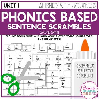 Unit 1 Phonics Based Sentence Scrambles