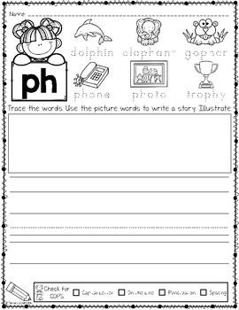 Phonics Based Writing Digraphs