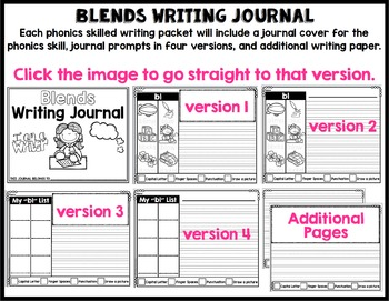 Phonics-Based Writing Journal: Blends