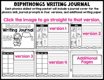 Phonics-Based Writing Journal: Diphthongs