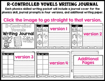 Phonics-Based Writing Journal: R-Controlled Vowels