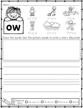 Phonics Based Writing Long Vowels