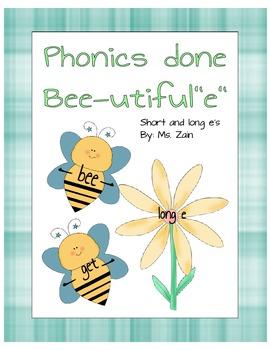 Phonics Bee-utiful e Done Short and Long e