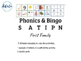 Phonics Beginners Bingo Consonants Vowels Vocabulary. Firs