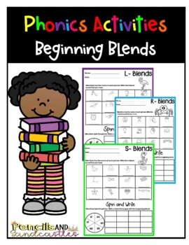 Phonics- Beginning Blends Spin and Write